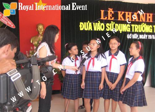 Tổ chức sự kiện lễ khánh thành trường trung học cơ sở Nguyễn Trãi