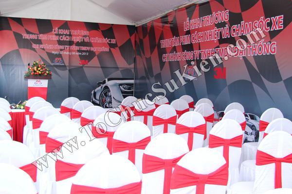Tổ chức sự kiện Lễ khai trương Trung tâm phim cách nhiệt 3M và chăm sóc xe - Công ty Đại Thống - 02