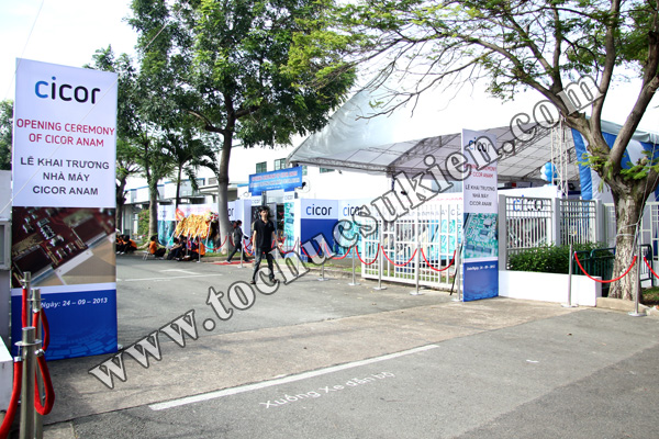Tổ chức sự kiện Lễ khai trương Nhà máy CICOR ANAM - tại KCN VIệt Nam - Singapore VSIP1 - 02