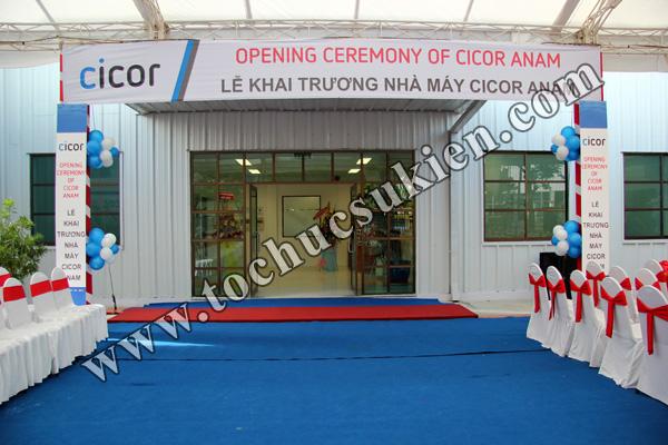 Tổ chức sự kiện Lễ khai trương Nhà máy CICOR ANAM - tại KCN VIệt Nam - Singapore VSIP1 - 05