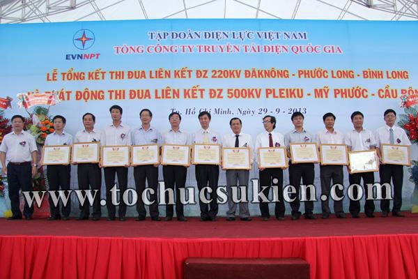 Tổ chức sự kiện Lễ Tổng kết thi đua liên kết ĐZ 220KV220KV Đăk Nông -Phước Long - Bình Long và Phát động thi đua liên kết ĐZ 500KV Pleiku -Mỹ Phước - Cầu Bông - Tập đoàn Điện lực Việt Nam - 25