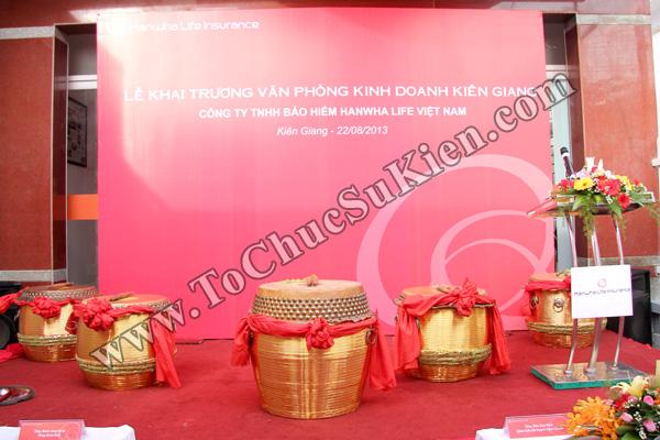 Tổ chức sự kiện Lễ khai trương Văn phòng Kinh doanh Kiên Giang - Cty Bảo hiểm Hanwha Life Việt Nam - 01