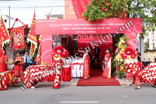 Tổ chức sự kiện Lễ khai trương Văn phòng Kinh doanh Kiên Giang - Cty Bảo hiểm Hanwha Life Việt Nam - 03