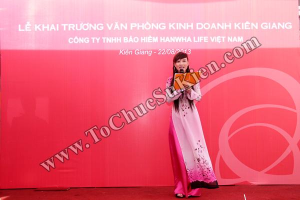 Tổ chức sự kiện Lễ khai trương Văn phòng Kinh doanh Kiên Giang - Cty Bảo hiểm Hanwha Life Việt Nam - 09