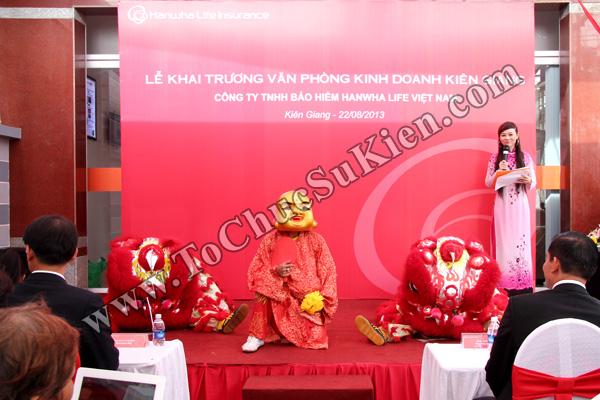 Tổ chức sự kiện Lễ khai trương Văn phòng Kinh doanh Kiên Giang - Cty Bảo hiểm Hanwha Life Việt Nam - 13