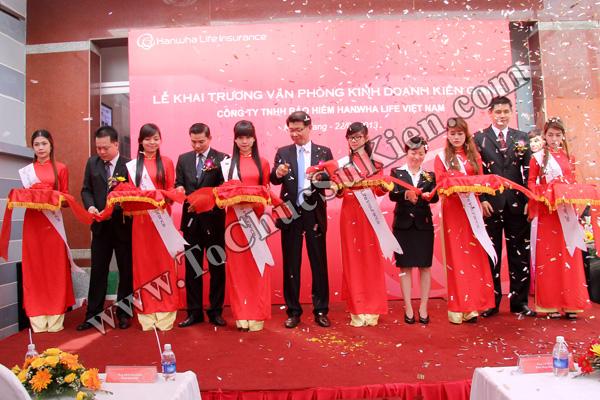 Tổ chức sự kiện Lễ khai trương Văn phòng Kinh doanh Kiên Giang - Cty Bảo hiểm Hanwha Life Việt Nam - 19