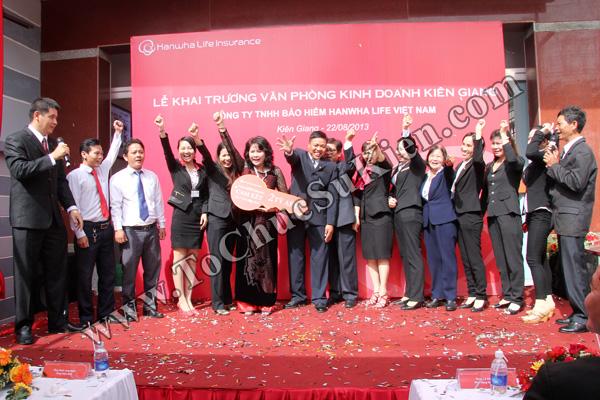 Tổ chức sự kiện Lễ khai trương Văn phòng Kinh doanh Kiên Giang - Cty Bảo hiểm Hanwha Life Việt Nam - 24