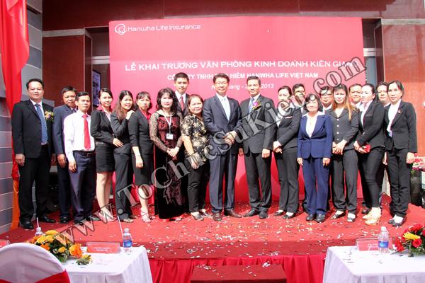 Tổ chức sự kiện Lễ khai trương Văn phòng Kinh doanh Kiên Giang - Cty Bảo hiểm Hanwha Life Việt Nam - 27