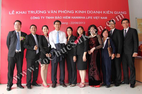 Tổ chức sự kiện Lễ khai trương Văn phòng Kinh doanh Kiên Giang - Cty Bảo hiểm Hanwha Life Việt Nam - 31