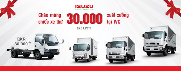 Tổ chức sự kiện Lễ chào mừng chiếc xe thứ 30.000 xuất xưởng tại IVC - Công ty ISUZU Việt Nam