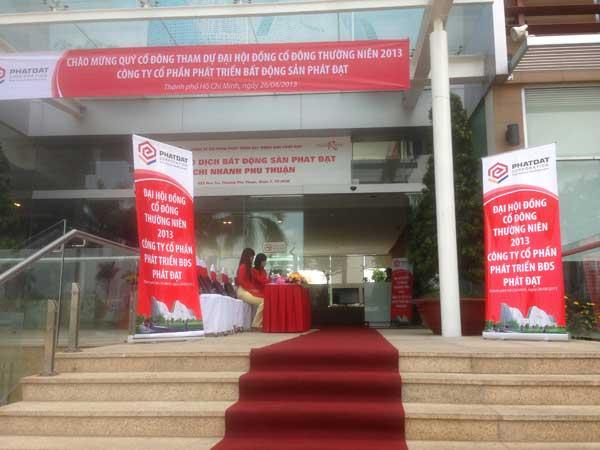 Cung cấp thiết bị - nhân sự tổ chức sự kiện Đại hội đồng cổ đông thường niên 2013 - Công ty CP Phát triển Bất động sản Phát Đạt - 03