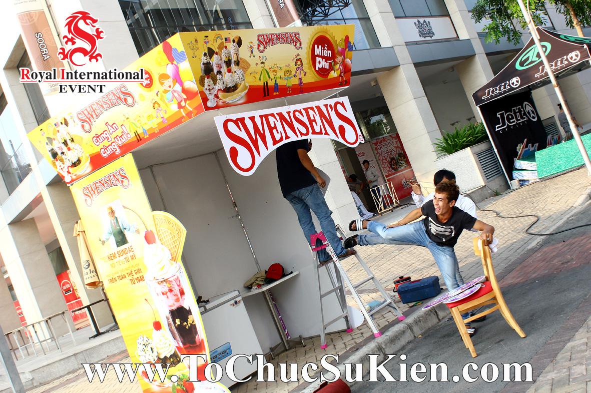 Thiết kế - Thi công - Lắp đặt Booth  Gian hàng Kem Swensen's - 01