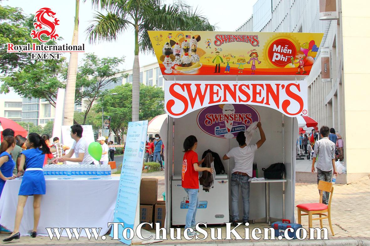 Thiết kế - Thi công - Lắp đặt Booth  Gian hàng Kem Swensen's - 02