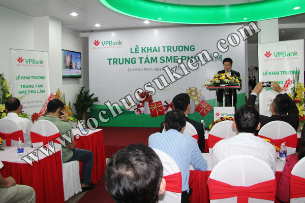 Tổ chức sự kiện khai trương trung tâm SME Phú Lâm - Ngân hàng VPBank - 07