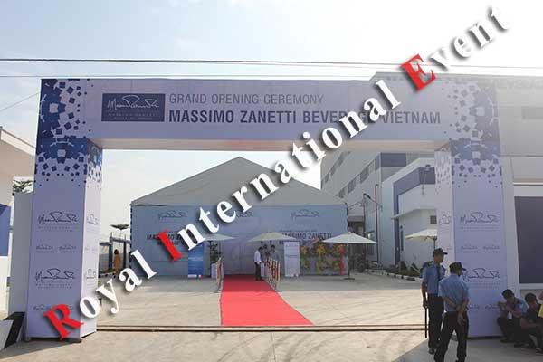 Tổ chức sự kiện - Lễ Khánh thành nhà máy rang xay cà phê Ý - Massimo Zanetti Beverage - 01