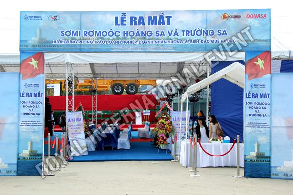 Tổ chức sự kiện Lễ ra mắt sản phẩm Somi Romooc Hoàng Sa - Trường Sa của Công ty Tân Thanh Container - 01
