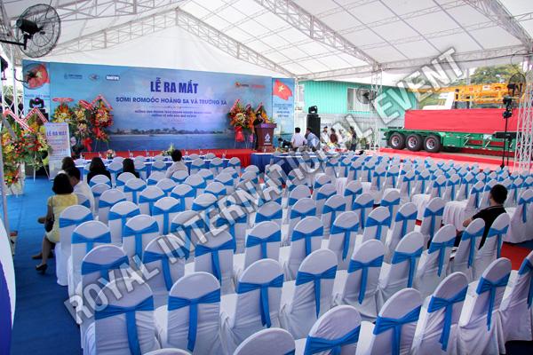 Tổ chức sự kiện Lễ ra mắt sản phẩm Somi Romooc Hoàng Sa - Trường Sa của Công ty Tân Thanh Container