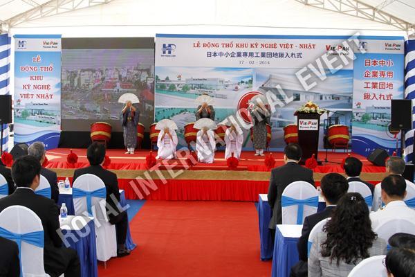 Tổ chức sự kiện Lễ động thổ Khu Kỹ nghệ Việt Nhật - ViePan Techno Park - 12