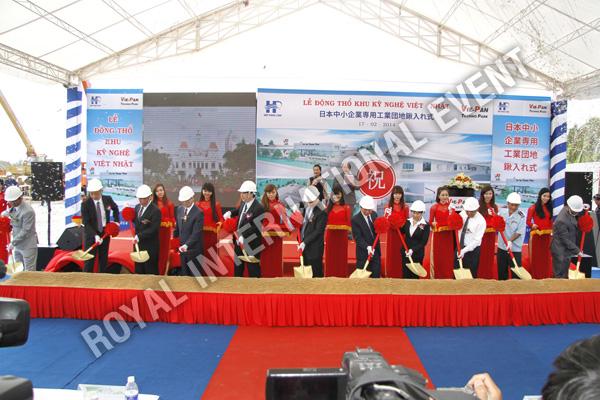 Tổ chức sự kiện Lễ động thổ Khu Kỹ nghệ Việt Nhật - ViePan Techno Park - 24