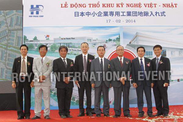 Tổ chức sự kiện Lễ động thổ Khu Kỹ nghệ Việt Nhật - ViePan Techno Park - 29