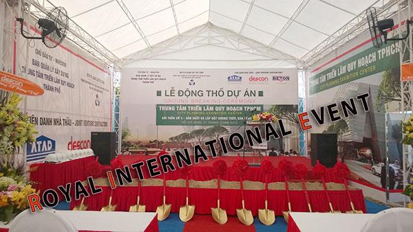 Tổ chức sự kiện - Lễ Động thổ khởi công Trung tâm triển lãm quy hoạch Tp.HCM - 03