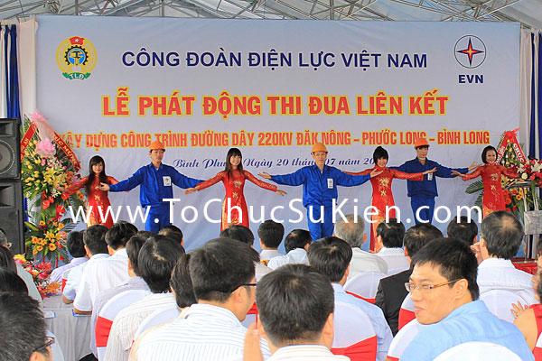 Tổ chức sự kiện Lễ phát động thi đua liên kết xây dựng công trình đường dây 220KV Đăk Nông - Phước Long - Bình Long - 9