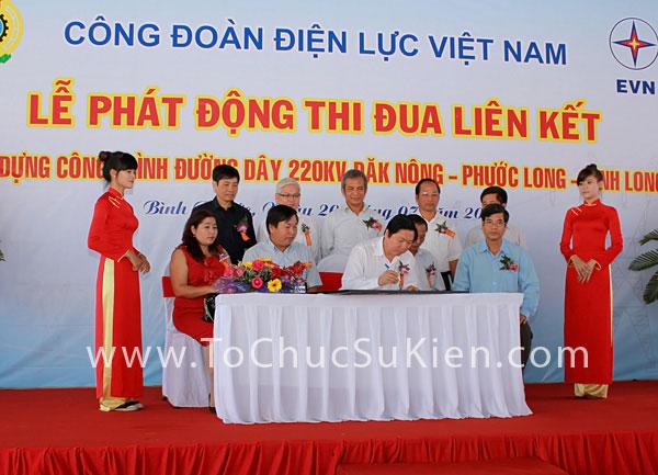 Tổ chức sự kiện Lễ phát động thi đua liên kết xây dựng công trình đường dây 220KV Đăk Nông - Phước Long - Bình Long - 24