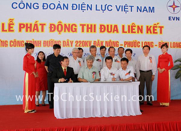 Tổ chức sự kiện Lễ phát động thi đua liên kết xây dựng công trình đường dây 220KV Đăk Nông - Phước Long - Bình Long - 25