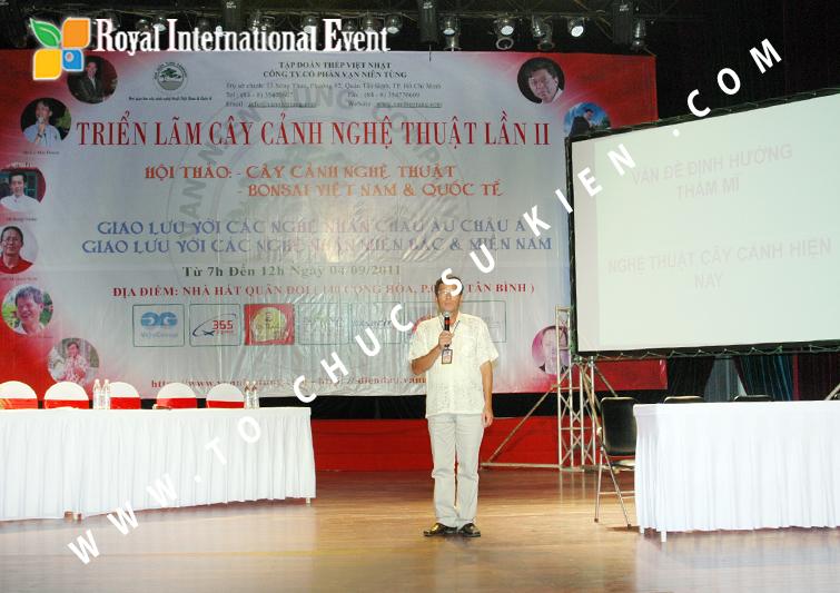 Tổ chức sự kiện hội thảo lần 2, cây cảnh nghệ thuật BonSai Việt Nam và Quốc Tế