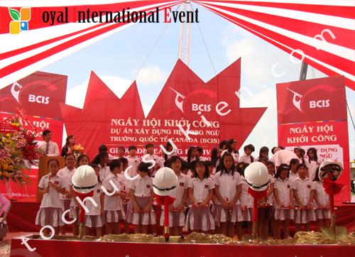Tổ chức sự kiện khởi công công trình trường song ngữ Quốc Tế Canada