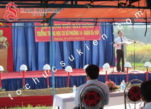Tổ Chức Sự Kiện Lễ Động Thổ Xây Dựng Trường THCS Phường 14 Gò Vấp