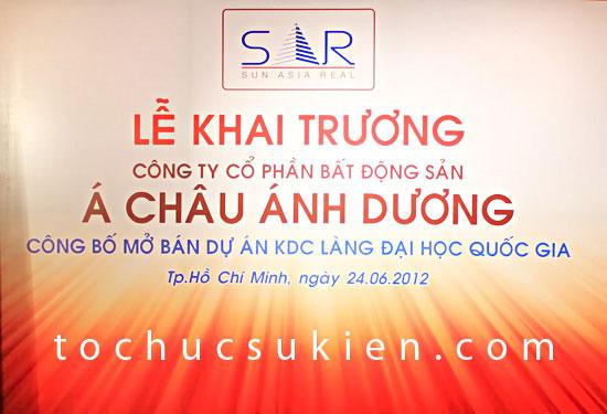 to chuc su kien khai truong san giao dich bat dong san A Chau Anh Duong - Sun Asia Real