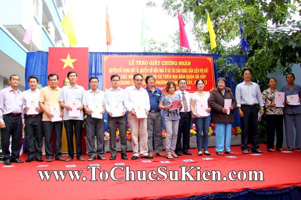 Tổ chức sự kiện Lễ trao giấy chứng nhận quyến sử dụng đất cho các hộ dân tái định cư trên địa bàn Gò Vấp tại Chung cư An Sương - Q.12 - 01