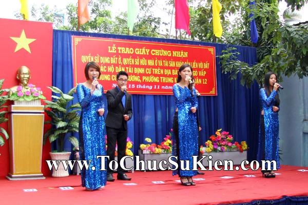 Tổ chức sự kiện Lễ trao giấy chứng nhận quyến sử dụng đất cho các hộ dântái định cư trên địa bàn Gò Vấp tại Chung cư An Sương - Q.12 - 05