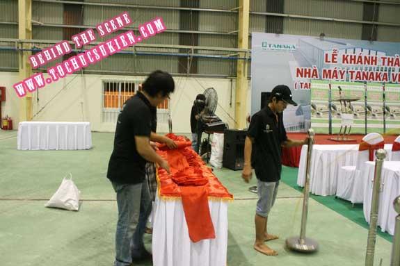 Hậu trường tổ chức sự kiện Lễ khánh thành nhà máy Tanaka - Nhơn Trạch - Đồng Nai - 03