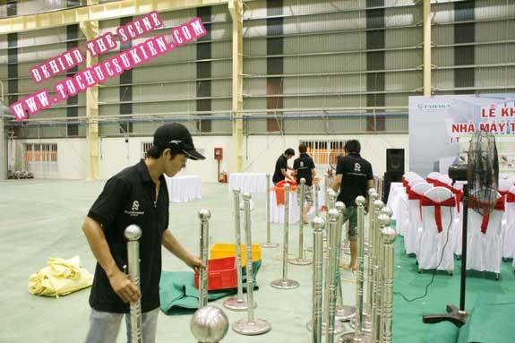 Hậu trường tổ chức sự kiện Lễ khánh thành nhà máy Tanaka - Nhơn Trạch - Đồng Nai - 09