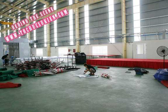 Hậu trường tổ chức sự kiện Lễ khánh thành nhà máy Tanaka - Nhơn Trạch - Đồng Nai - 10