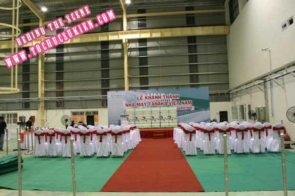Hậu trường tổ chức sự kiện Lễ khánh thành nhà máy Tanaka - Nhơn Trạch - Đồng Nai - 12