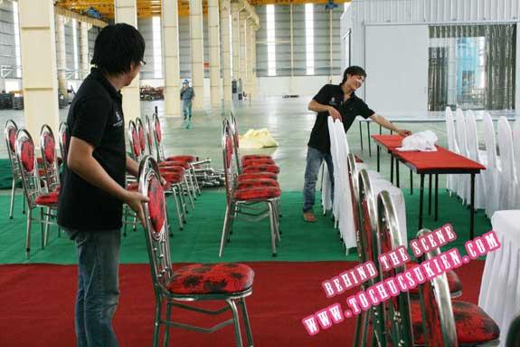 Hậu trường tổ chức sự kiện Lễ khánh thành nhà máy Tanaka - Nhơn Trạch - Đồng Nai - 13