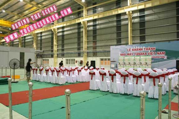 Hậu trường tổ chức sự kiện Lễ khánh thành nhà máy Tanaka - Nhơn Trạch - Đồng Nai - 16