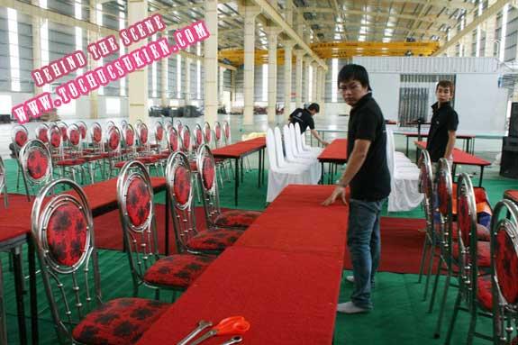 Hậu trường tổ chức sự kiện Lễ khánh thành nhà máy Tanaka - Nhơn Trạch - Đồng Nai - 21