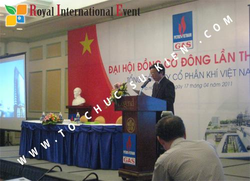 Cho thuê, cung cấp thiết bị sự kiện, nhân sự cho sự kiện -  Đại Hội Cổ Đông của Tổng Công Ty Khí Việt Nam 13
