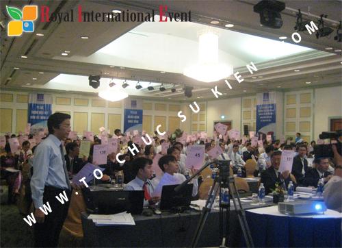 Cho thuê, cung cấp thiết bị sự kiện, nhân sự cho sự kiện -  Đại Hội Cổ Đông của Tổng Công Ty Khí Việt Nam 15