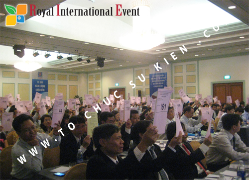 Cho thuê, cung cấp thiết bị sự kiện, nhân sự cho sự kiện -  Đại Hội Cổ Đông của Tổng Công Ty Khí Việt Nam 16