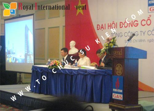Cho thuê, cung cấp thiết bị sự kiện, nhân sự cho sự kiện -  Đại Hội Cổ Đông của Tổng Công Ty Khí Việt Nam 17