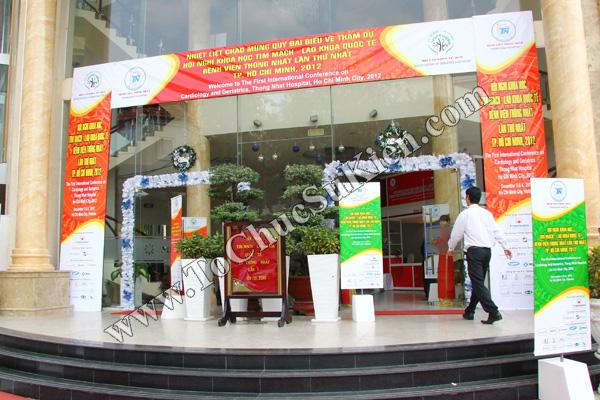 Tổ chức sự kiện: Cung cấp thiết bị, thi công gian hàng cho Hội nghị Khoa học tim mạch - Lao khoa quốc tế do Bệnh viện Thống Nhất tổ chức tại khách sạn Đệ Nhất HCM 01