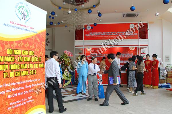 Tổ chức sự kiện: Cung cấp thiết bị, thi công gian hàng cho Hội nghị Khoahọc tim mạch - Lao khoa quốc tế do Bệnh viện Thống Nhất tổ chức tạikhách sạn Đệ Nhất HCM 02
