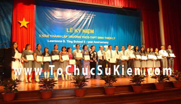 Tổ chức sự kiện Lễ kỷ niệm 5 năm ngày thành lập trường THCS - THPT Đinh Thiện Lý - 04