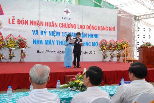Sự kiện Lễ đón nhận huân chương lao  động và kỷ niệm 15 năm vận hành Nhà máy thủy điện Thác Mơ - Tỉnh Bình  Phước 11