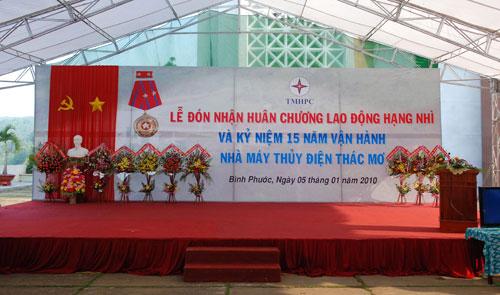 Sự kiện Lễ đón nhận huân chương lao  động và kỷ niệm 15 năm vận hành Nhà máy thủy điện Thác Mơ - Tỉnh Bình  Phước 7